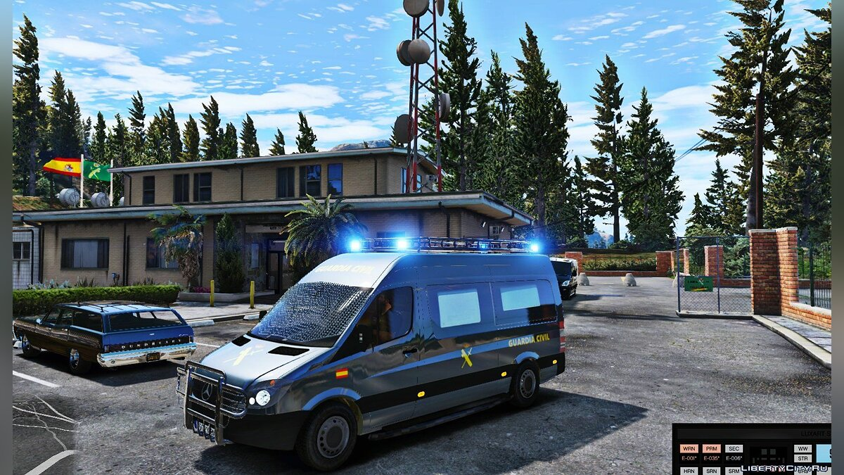 Mercedes Sprinter Guardia Civil GRS (ELS) 1.1 для GTA 5 - скриншот #5