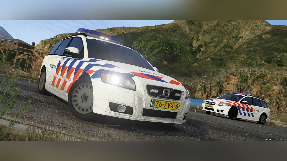 Volvo v50, Dutch police, TeamMoh 0.1 для GTA 5 - скриншот #4