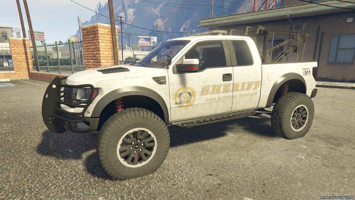 Police Raptor Lifted Towtruck ADD-ON version для GTA 5