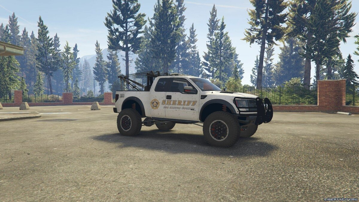 Police Raptor Lifted Towtruck ADD-ON version для GTA 5 - скриншот #2