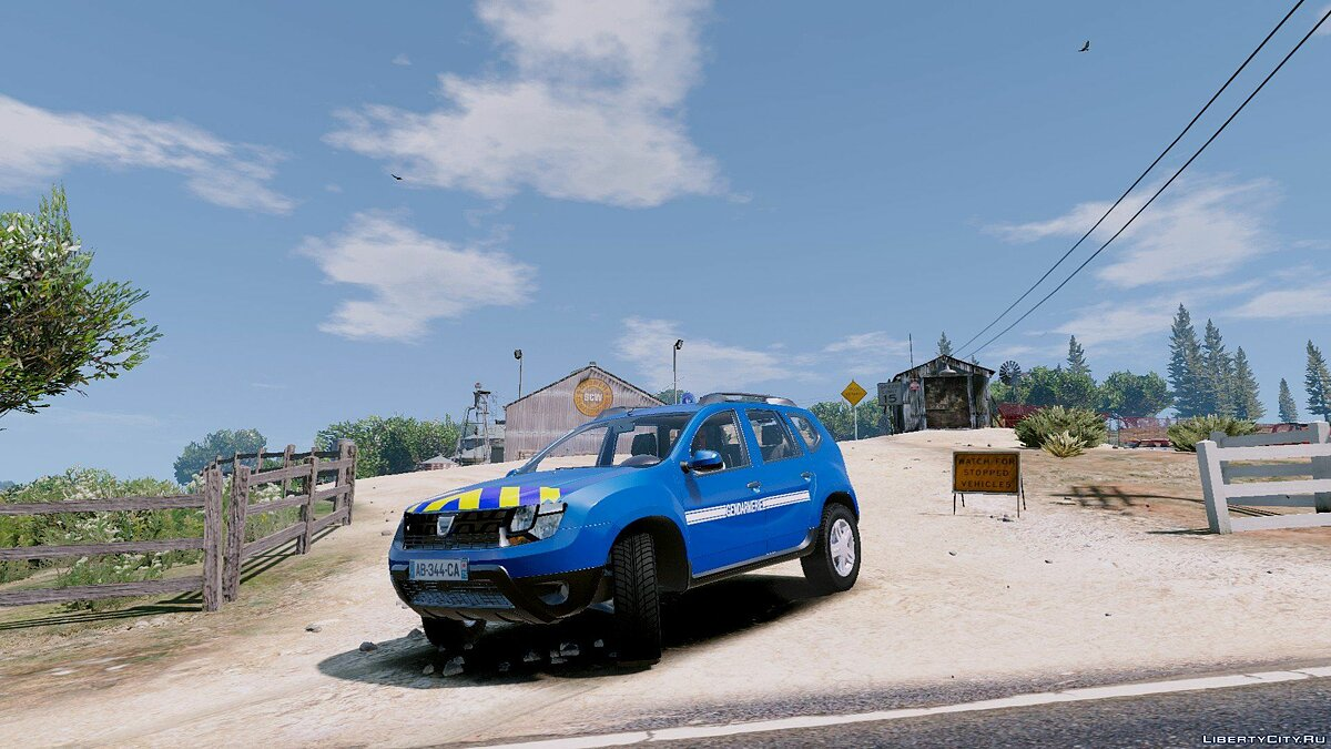 ��ашина полиции Dacia Duster Gendarmerie Nationale 1.0 для GTA 5