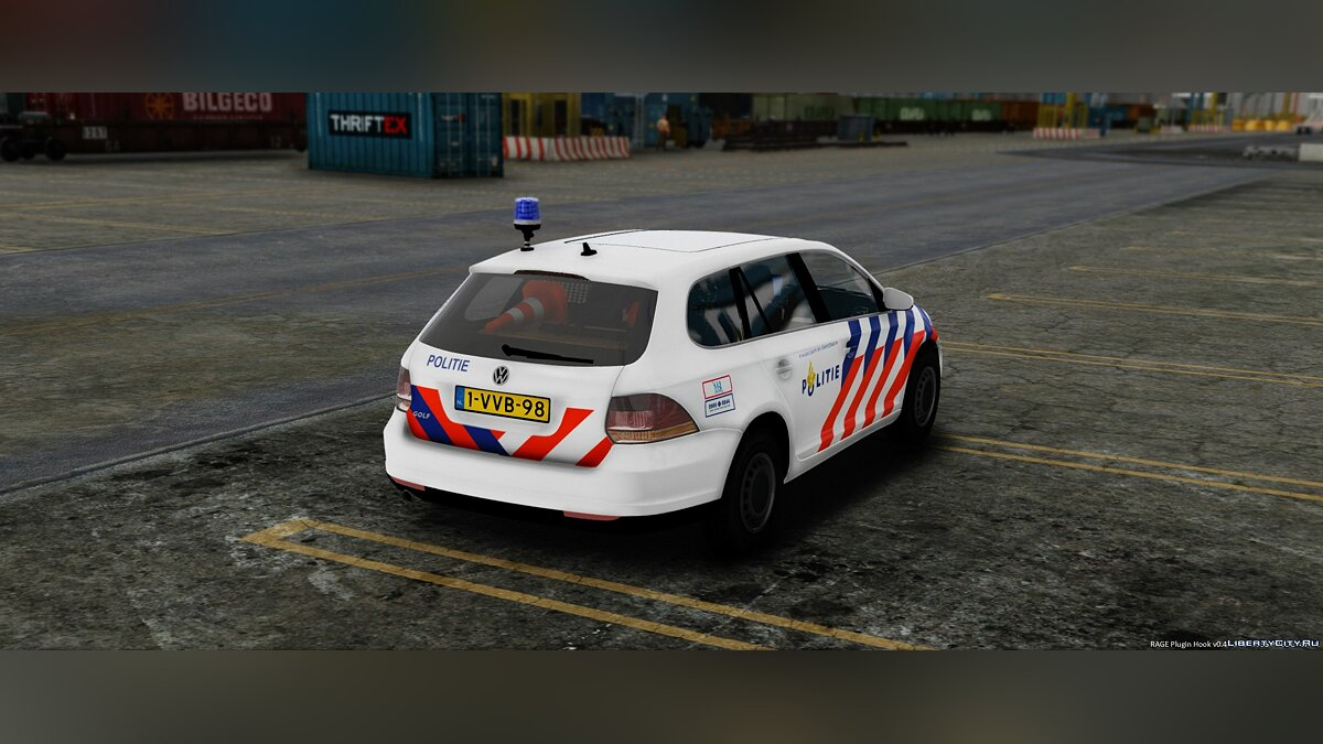 Volkswagen Golf Variant Dutch Police 1.1 для GTA 5 - скриншот #2