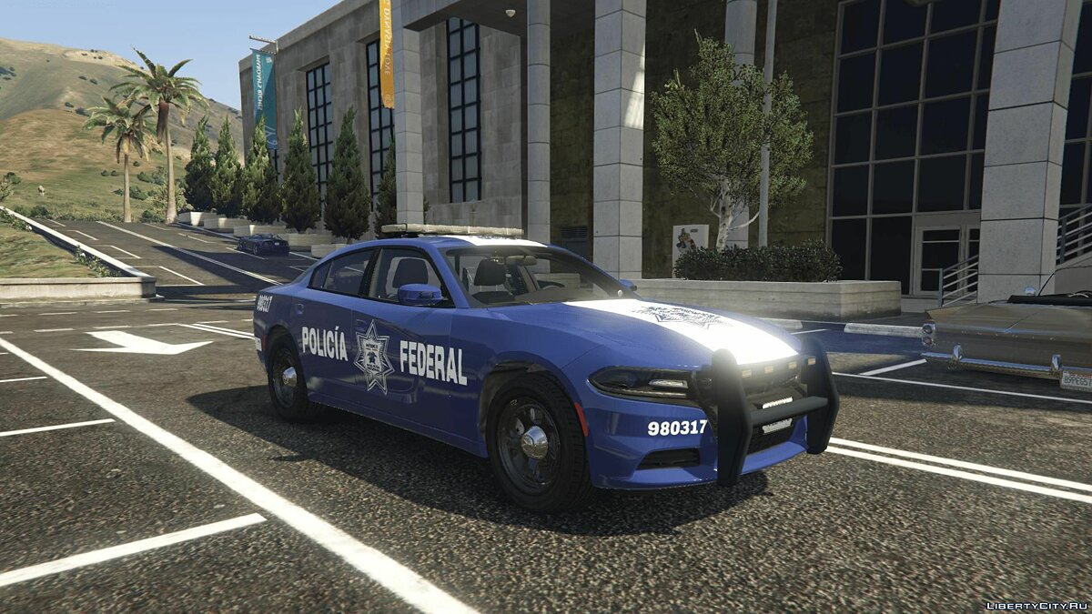 Машина полиции 2018 Dodge Charger Pursuit ELS Policía Federal México (SG) для GTA 5