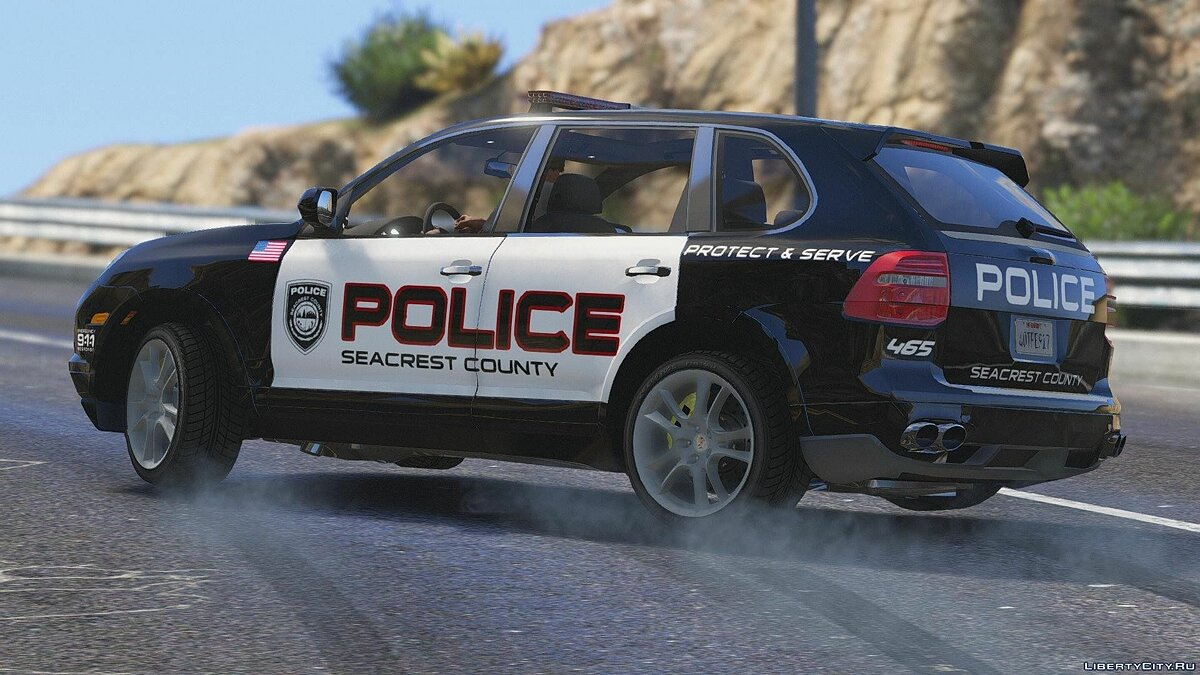Porsche Cayenne - Need for Speed Hot Pursuit Police + Template для GTA 5 - скриншот #4