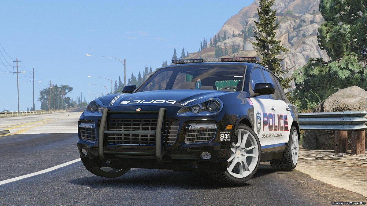 Porsche Cayenne - Need for Speed Hot Pursuit Police + Template для GTA 5 - скриншот #5