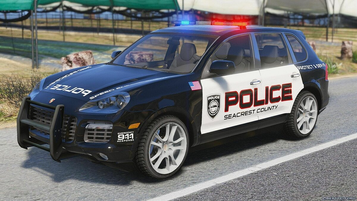 Porsche Cayenne - Need for Speed Hot Pursuit Police + Template для GTA 5 - скриншот #8