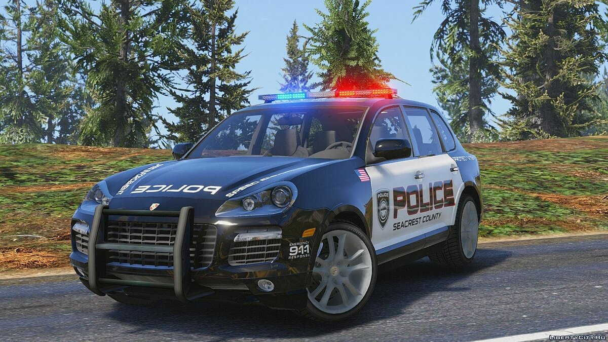 Porsche Cayenne - Need for Speed Hot Pursuit Police + Template для GTA 5 - скриншот #6