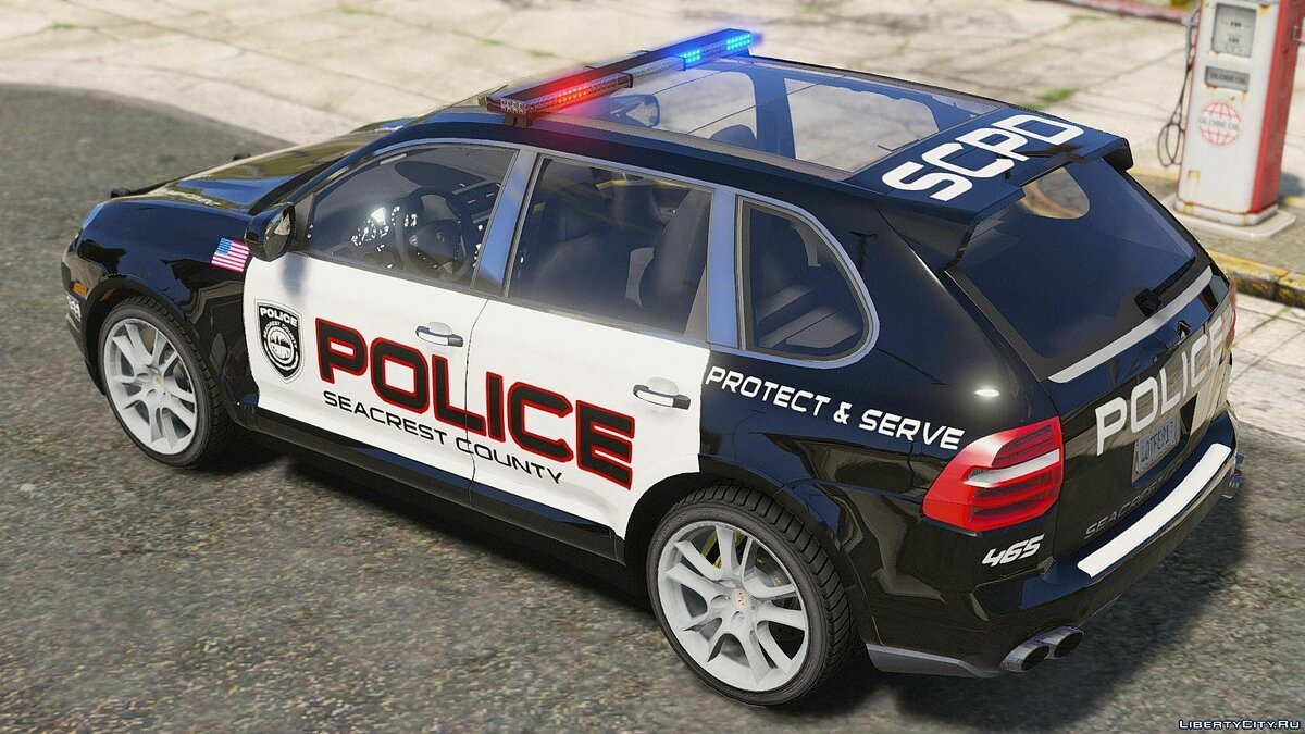 Porsche Cayenne - Need for Speed Hot Pursuit Police + Template для GTA 5 - скриншот #7