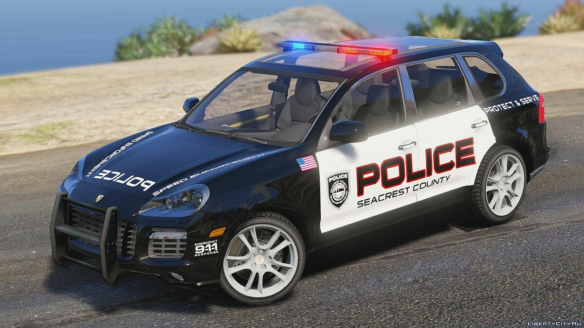 Porsche Cayenne - Need for Speed Hot Pursuit Police + Template для GTA 5