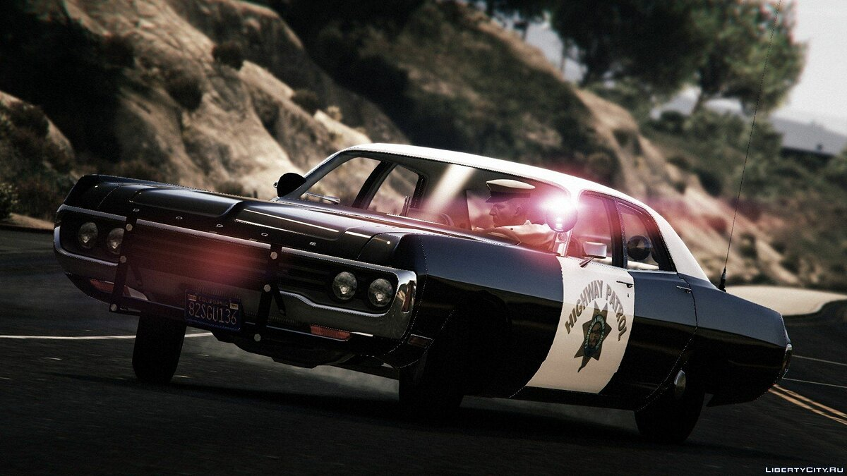1971 Dodge Polara - California Highway Patrol для GTA 5 - скриншот #4