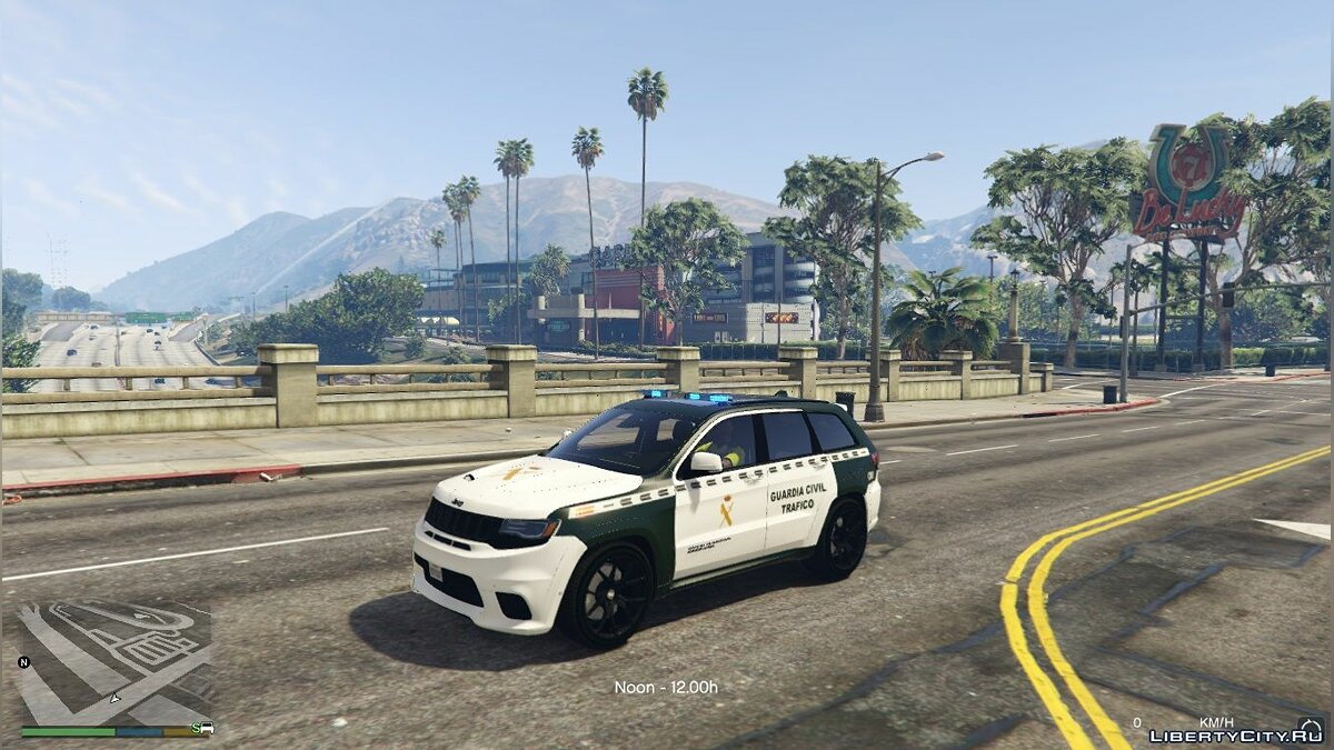 Jeep Grand Cherokee Guardia Civil Trafico - Spanish Traffic Police 1.1 для GTA 5
