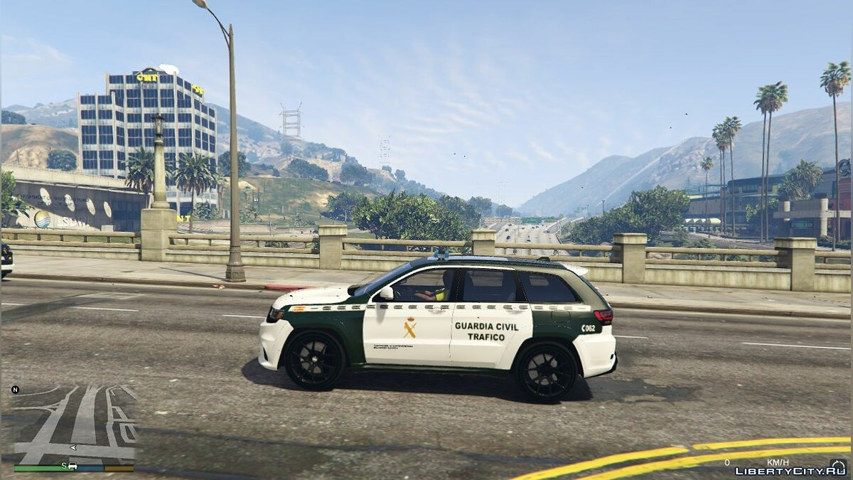 Jeep Grand Cherokee Guardia Civil Trafico - Spanish Traffic Police 1.1 для GTA 5 - скриншот #2