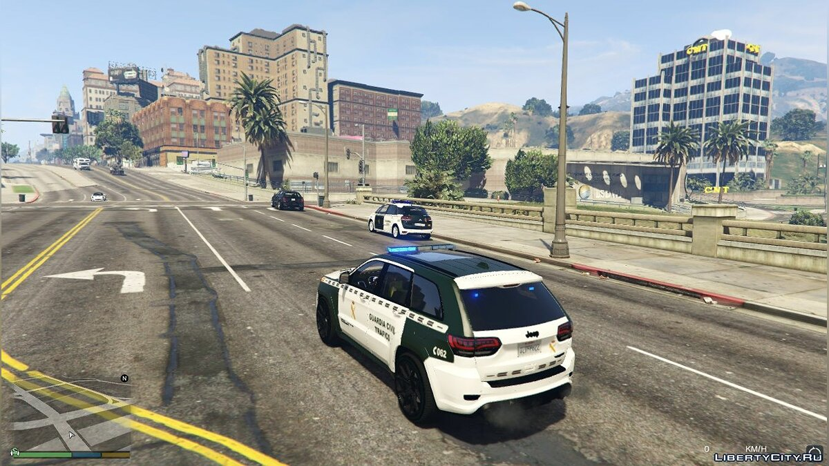 Jeep Grand Cherokee Guardia Civil Trafico - Spanish Traffic Police 1.1 для GTA 5 - скриншот #3