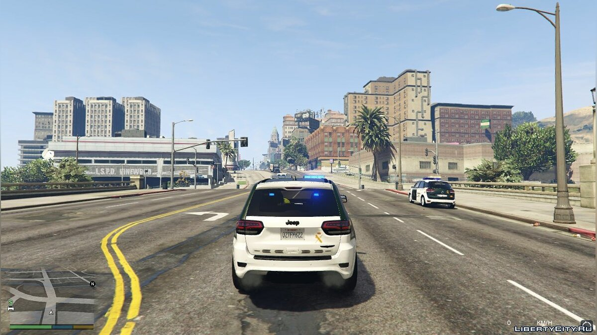 Jeep Grand Cherokee Guardia Civil Trafico - Spanish Traffic Police 1.1 для GTA 5 - скриншот #5