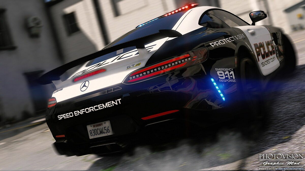 Mercedes-Benz AMG GT R 2017 | Hot Pursuit Police [Add-On / Replace | Template] 1.0 для GTA 5 - скриншот #2