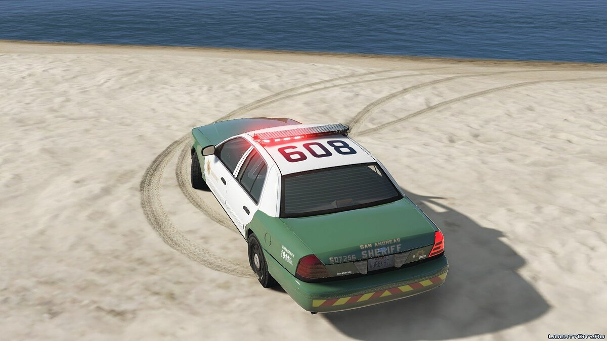 San Andreas Sheriff's Crown Victoria 2.2 для GTA 5 - скриншот #3