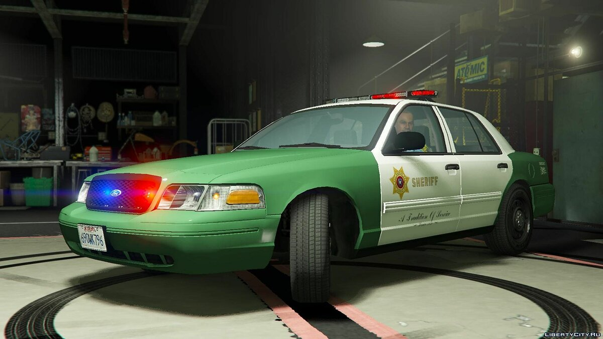 San Andreas Sheriff's Crown Victoria 2.2 для GTA 5 - скриншот #7