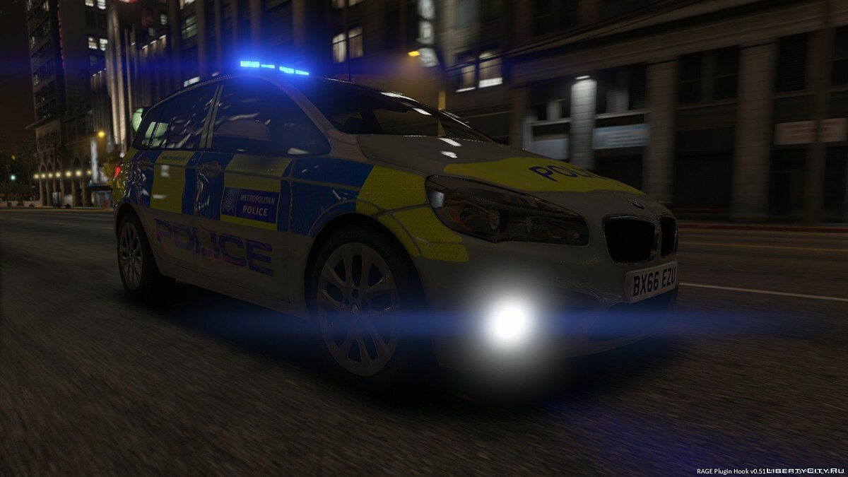 Metropolitan Police 2017 BMW 2 Series Grand Tourer ELS для GTA 5 - скриншот #3