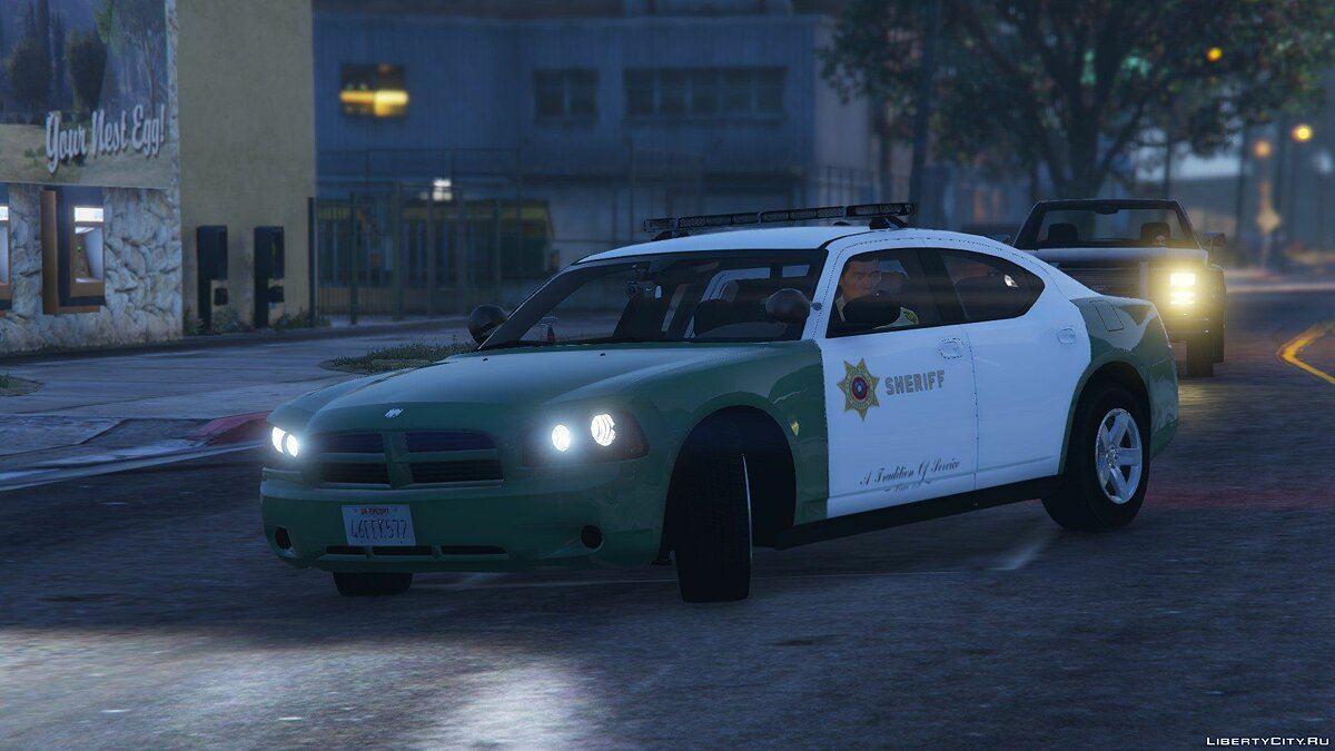 San Andreas Sheriff's Dodge Charger (2009 PPV) для GTA 5 - скриншот #3