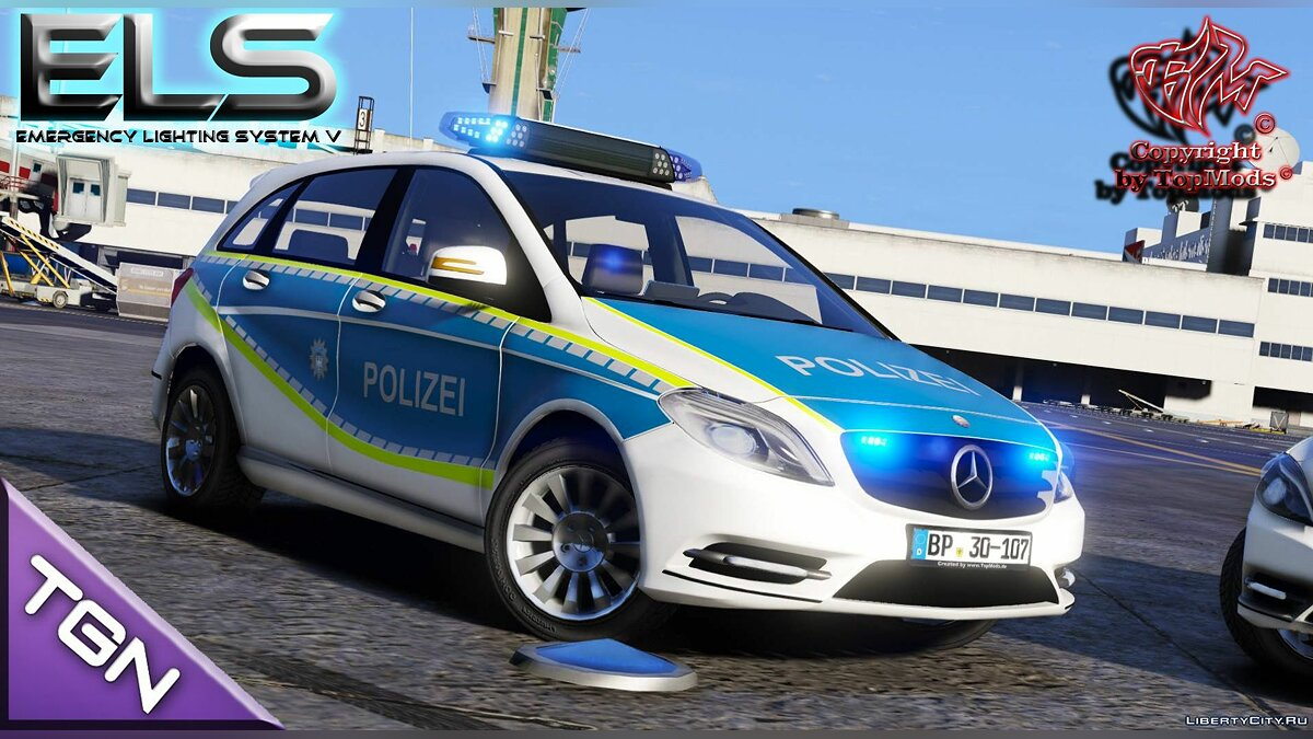 Машина полиции Mercedes-Benz B Klasse Bundespolizei для GTA 5