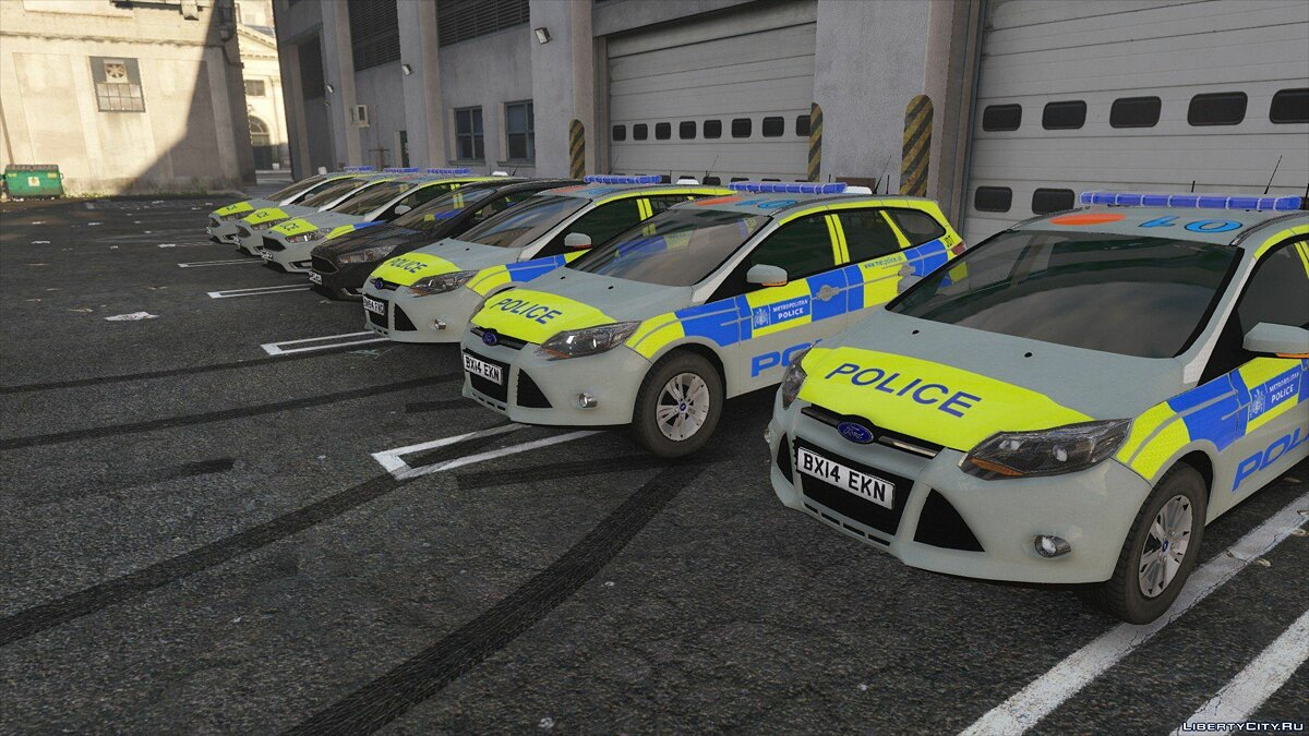 Metropolitan Police Ford Focus Estate Pack [ELS] для GTA 5