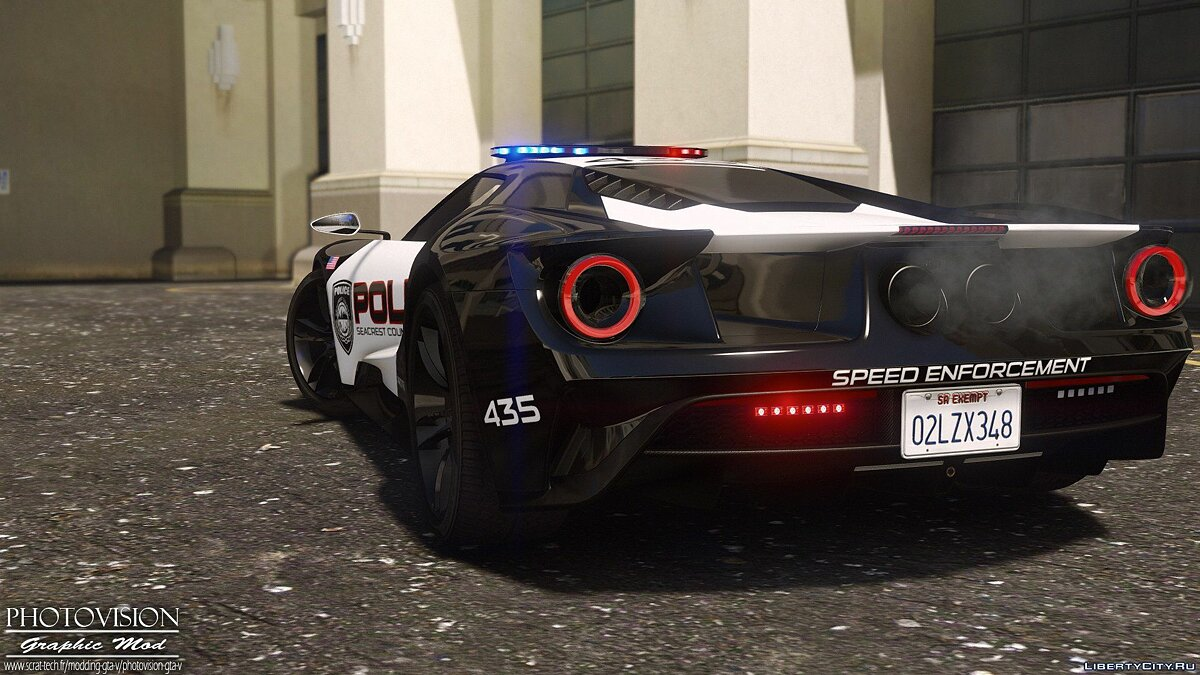 2017 Ford GT | Hot Pursuit Police [Add-On / Replace | Template] 1.0 для GTA 5 - скриншот #9