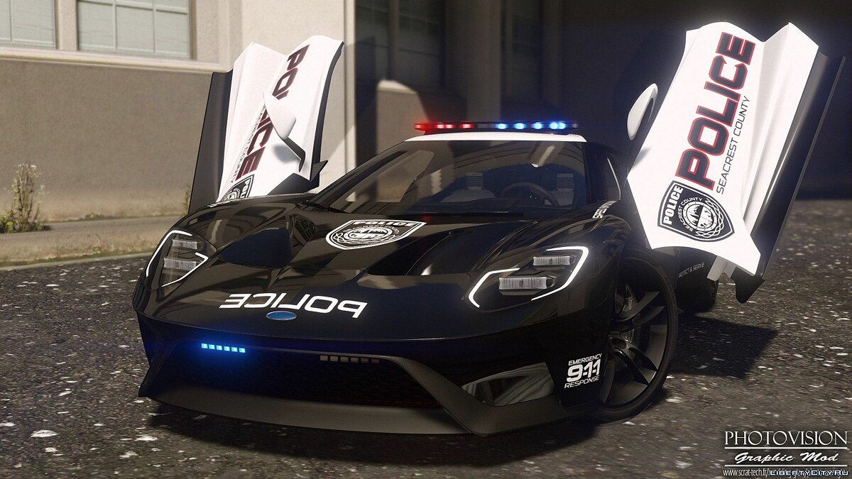 2017 Ford GT | Hot Pursuit Police [Add-On / Replace | Template] 1.0 для GTA 5 - скриншот #10