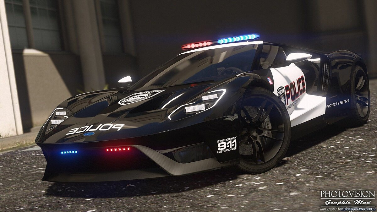 ��ашина полиции 2017 Ford GT | Hot Pursuit Police [Add-On / Replace | Template] 1.0 для GTA 5
