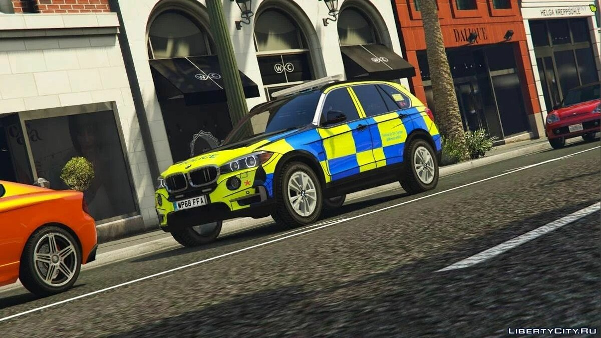 Машина полиции Winshire Marked BMW X5 ARV [ELS | Replace] 1.0 для GTA 5