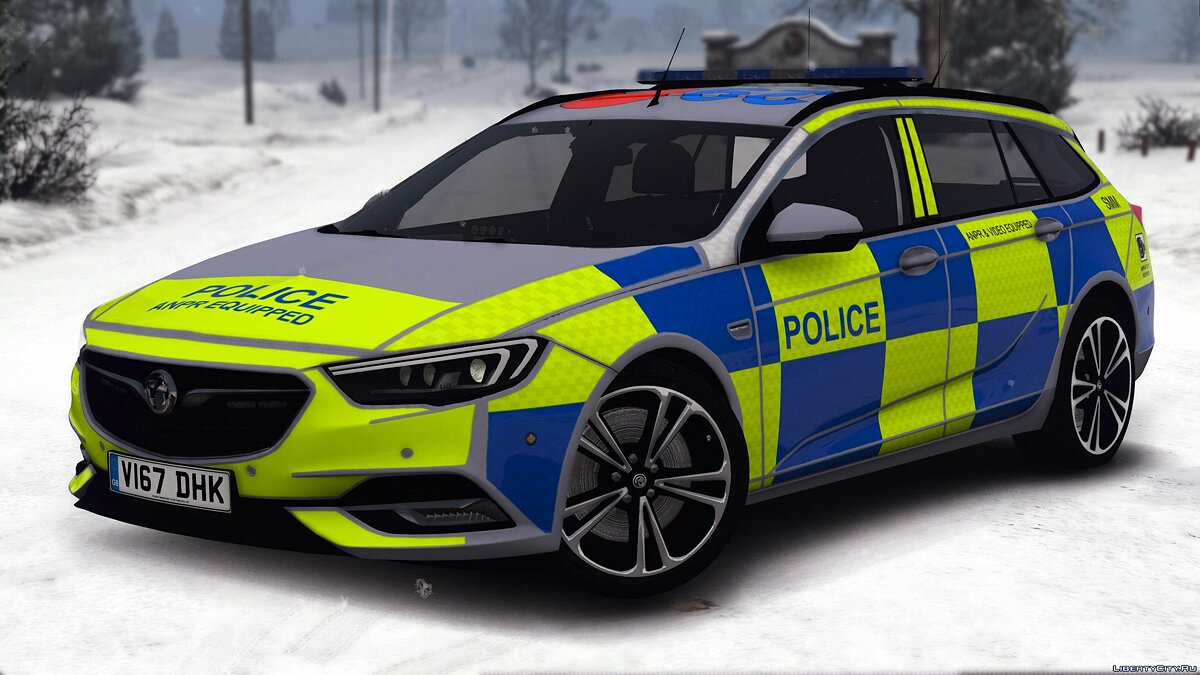 2017 Police Vauxhall Insignia Estate [Replace | ELS] 1.0 для GTA 5