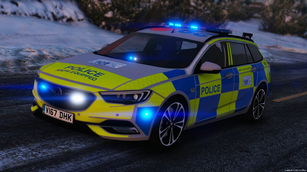 2017 Police Vauxhall Insignia Estate [Replace | ELS] 1.0 для GTA 5 - скриншот #3