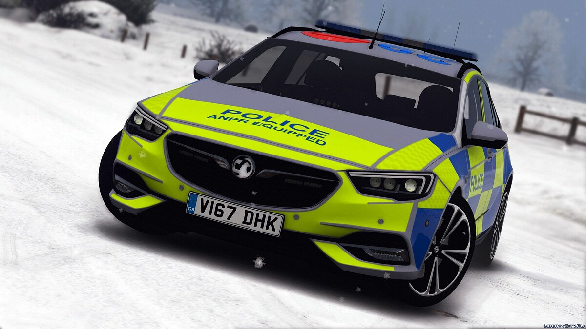 2017 Police Vauxhall Insignia Estate [Replace | ELS] 1.0 для GTA 5 - скриншот #6