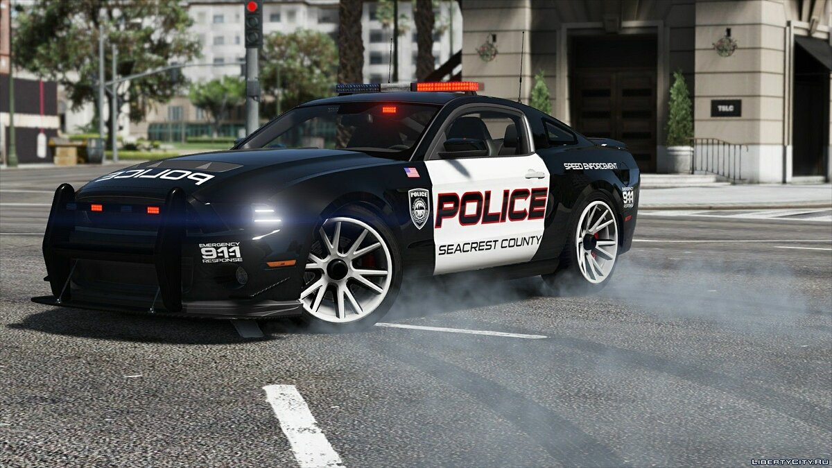 Машина полиции Ford Shelby GT500 | Hot Pursuit Police [Add-On / Replace | Template] 2.0 для GTA 5