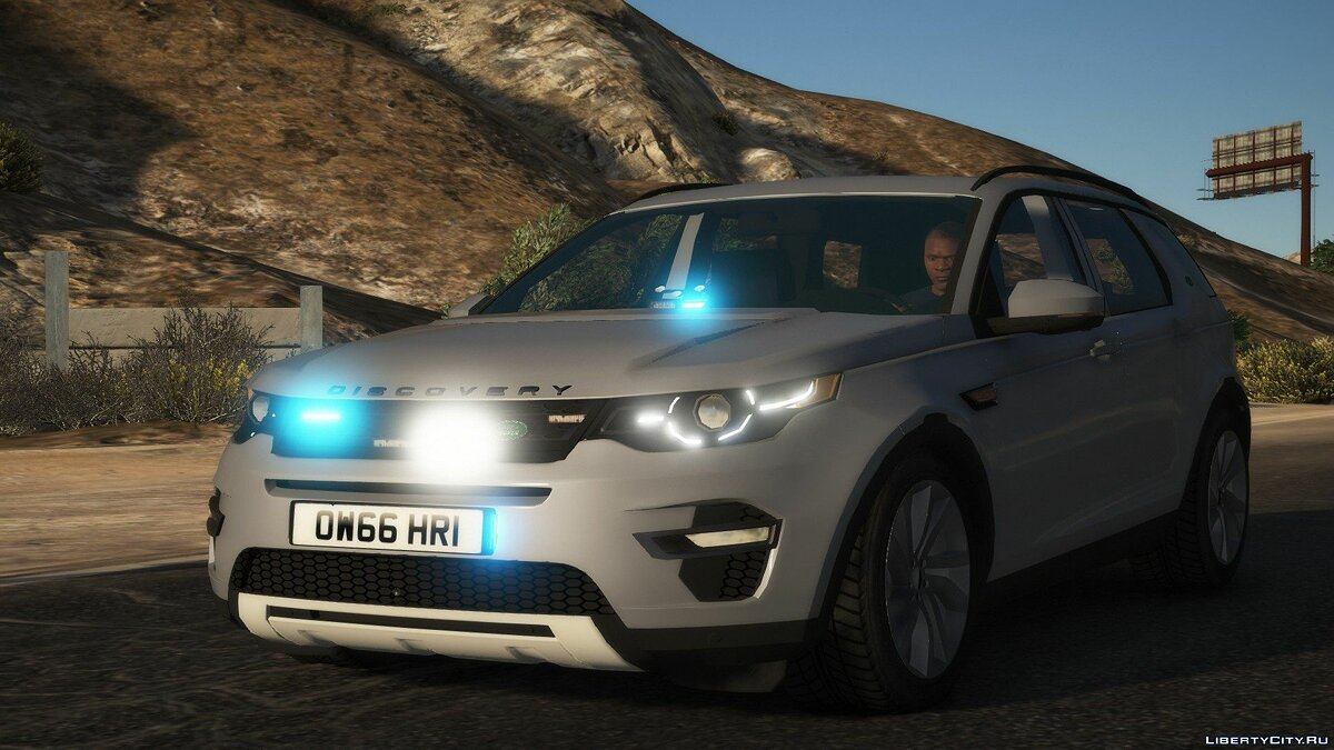 Машина полиции Land Rover Discovery Sport Unmarked [ELS | REPLACE] 1.0 для GTA 5