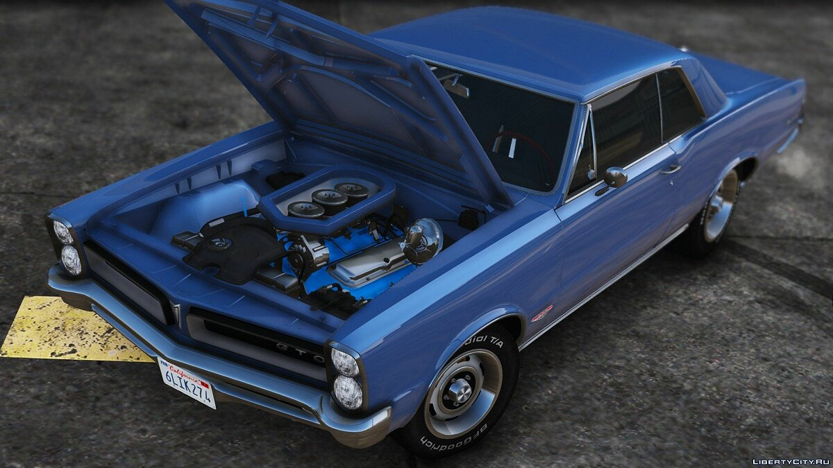 1965 Pontiac Tempest Le Mans GTO [Add-On | Template] 1.2 для GTA 5 - скриншот #8
