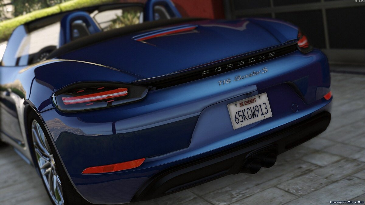 Porsche 718 Boxster S [Add-On / Replace] для GTA 5 - скриншот #2