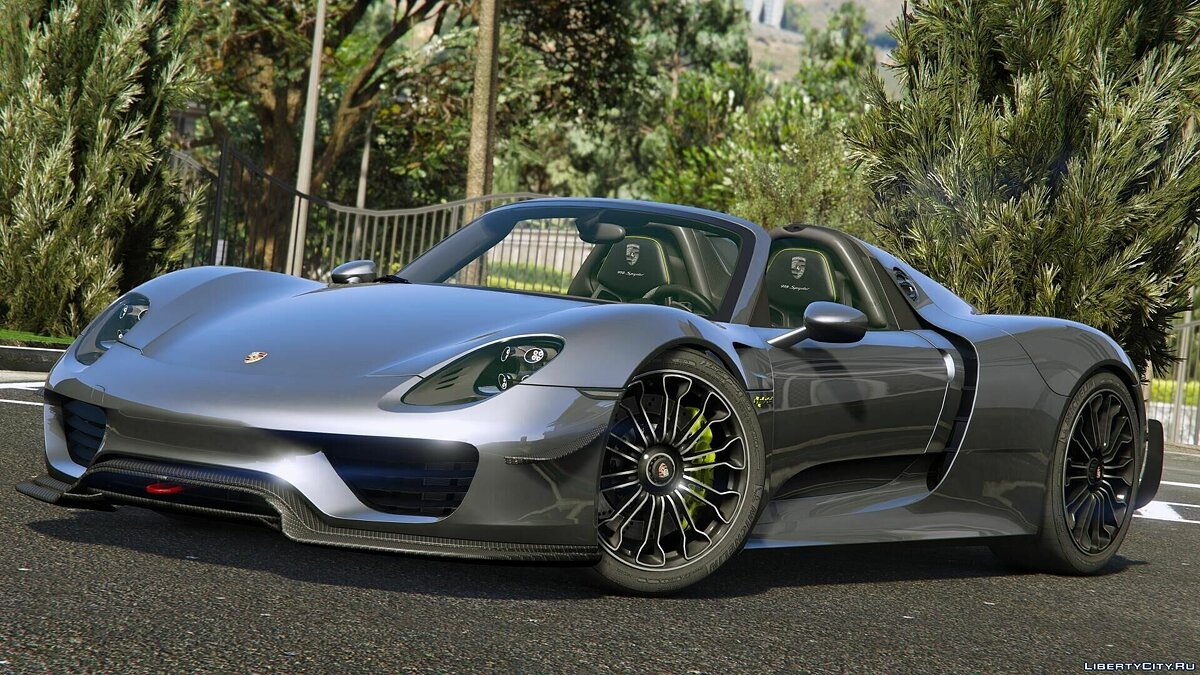 2015 Porsche 918 Spyder & Weissach Kit [Add-On] для GTA 5