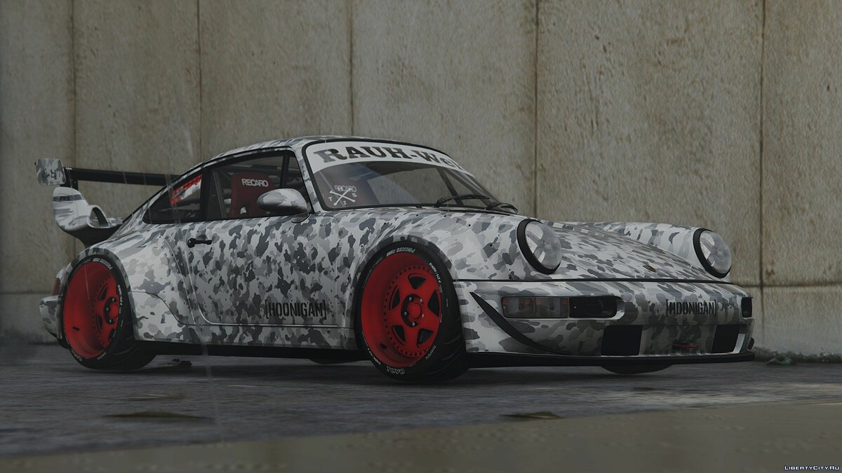1991 Porsche 911(964) Turbo Hoonigan&Rauh-Welt HQ [Add-On] [Template/Liveries] [Dirt Mapping] Final Version для GTA 5 - скриншот #3