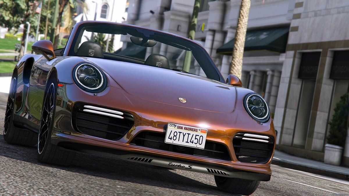 2016 Porsche 911 Turbo S Cabriolet (991.2) [Add-On | Wipers] 1.1 для GTA 5 - скриншот #4