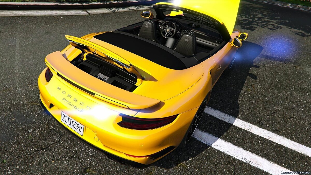 2016 Porsche 911 Turbo S Cabriolet (991.2) [Add-On | Wipers] 1.1 для GTA 5 - скриншот #3