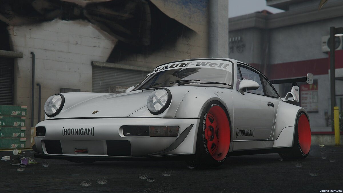��ашина Porsche 1991 Porsche 911(964) Turbo Hoonigan&Rauh-Welt HQ [Add-On] [Template/Liveries] [Dirt Mapping] 2.0 для GTA 5