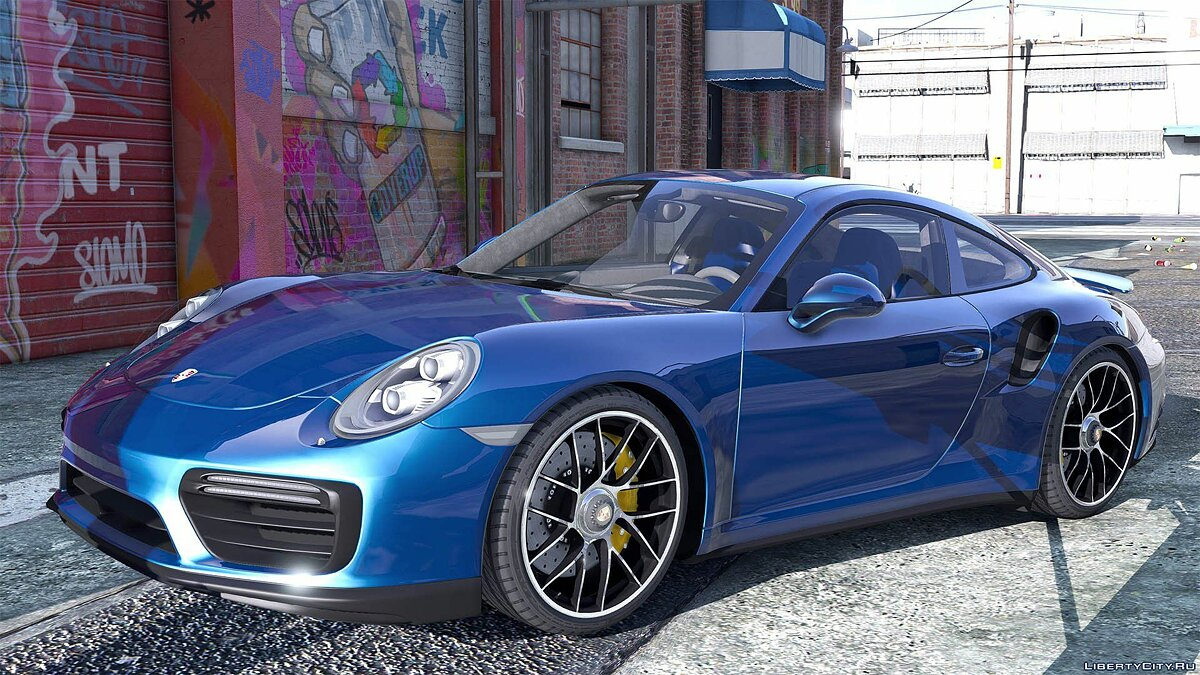 2016 Porsche 911 Turbo S [Add-On / Replace | Auto Spoiler | Animated | Template] 1.2 для GTA 5 - скриншот #4