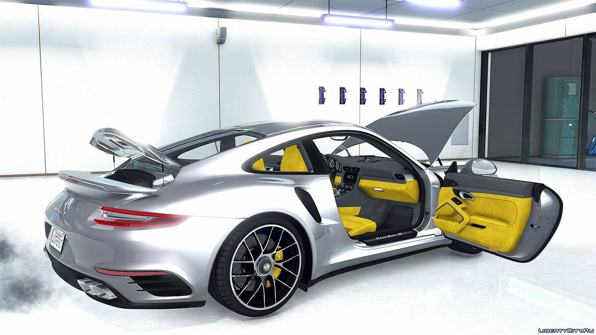 2016 Porsche 911 Turbo S [Add-On / Replace | Auto Spoiler | Animated | Template] 1.2 для GTA 5 - скриншот #6