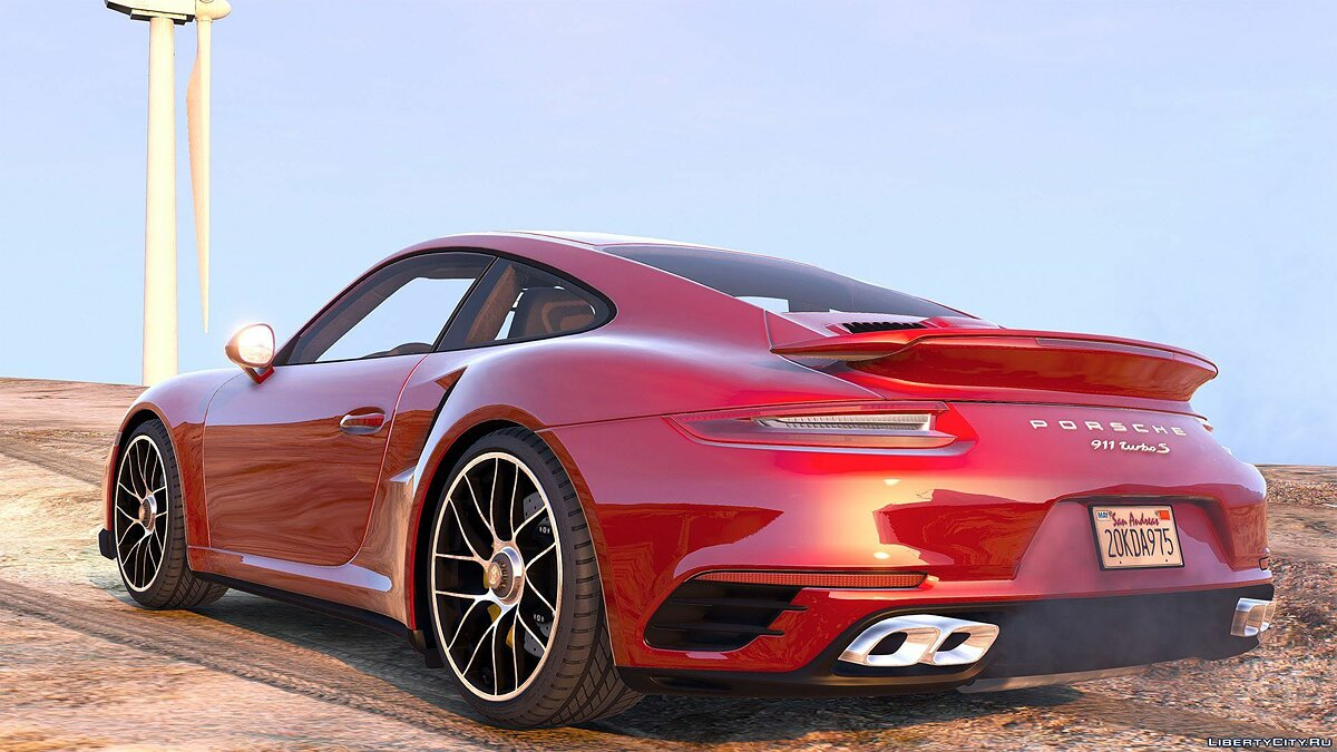 2016 Porsche 911 Turbo S [Add-On / Replace | Auto Spoiler | Animated | Template] 1.2 для GTA 5 - скриншот #8