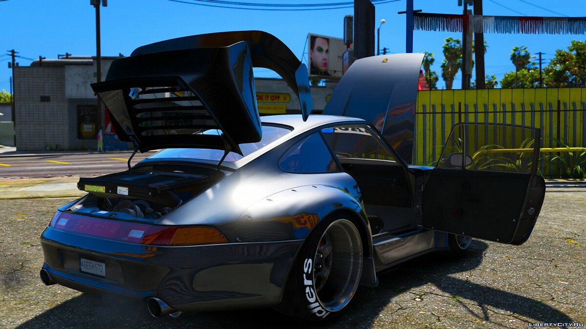 ��ашина Porsche Porsche 911(993) GT-2 1992 RWB[Replace/Add-On][HQ Interior][HQ Exterior][UV Map] 1.2 для GTA 5
