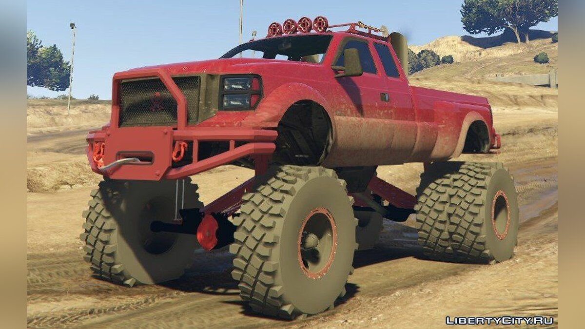 Sandking HD Monster Dually [Replace] 1.4.3 для GTA 5