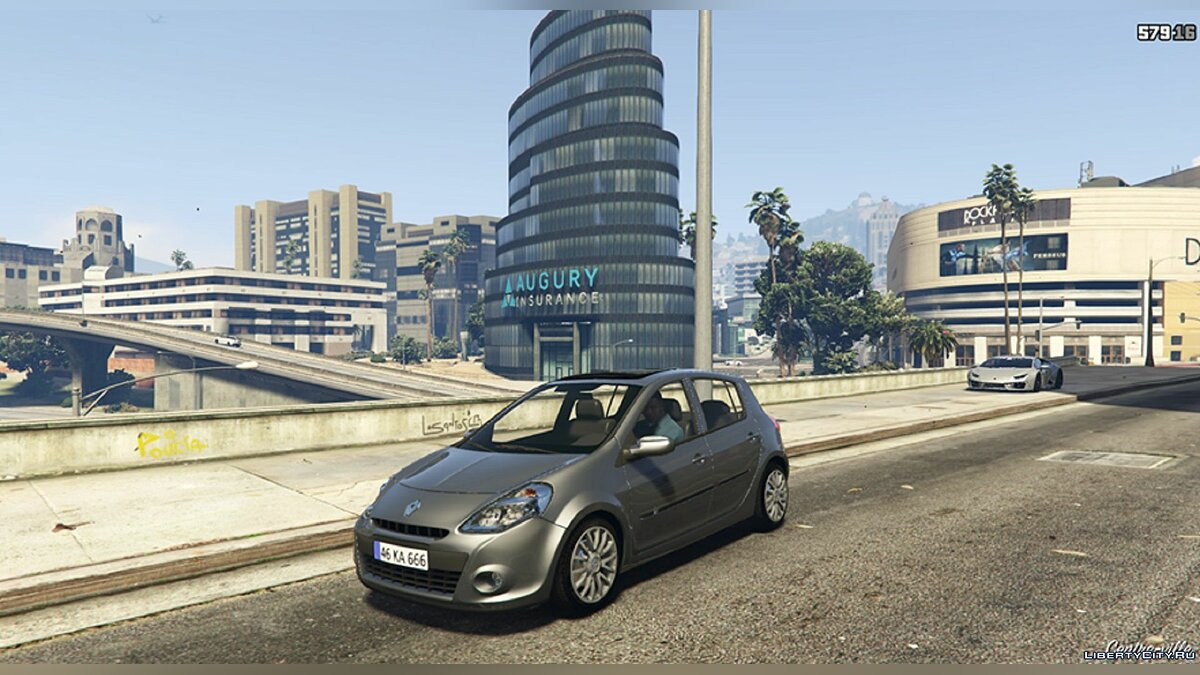 Машина Renault Renault CLIO 3 2010 [Add-on] FIVEM 1.0 для GTA 5