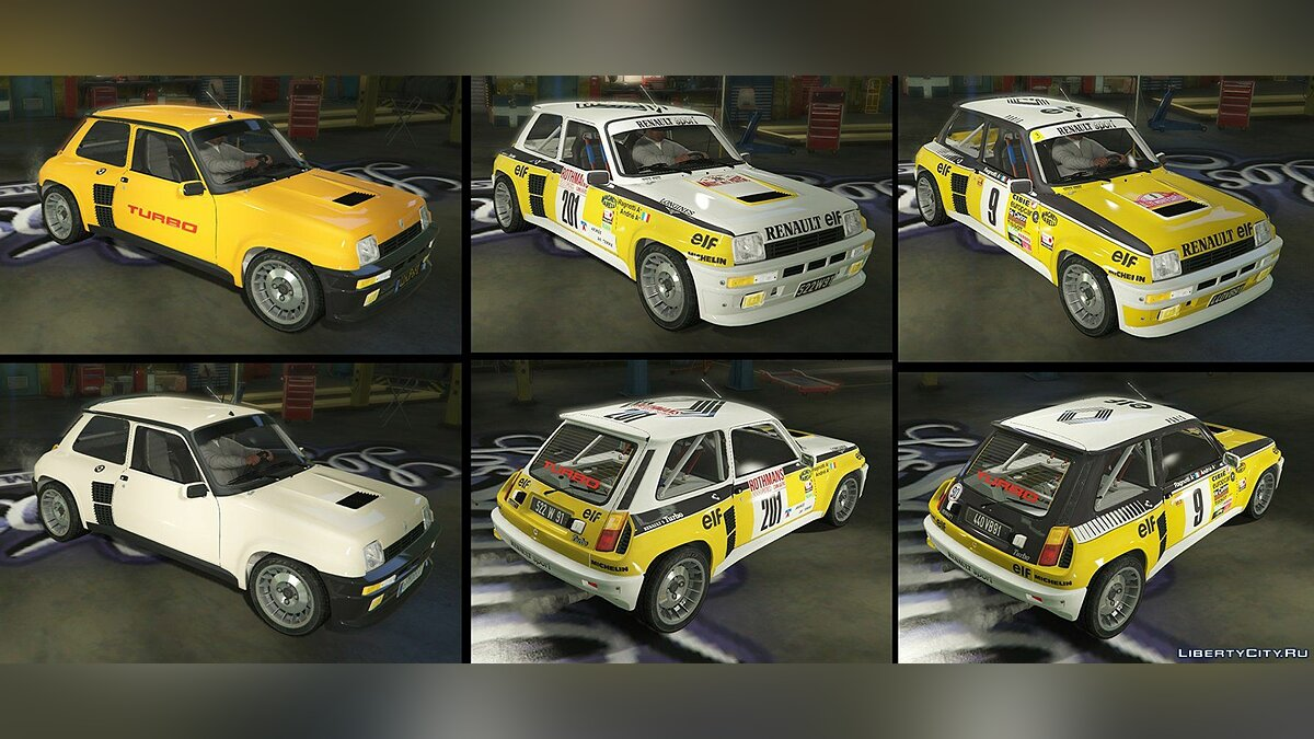Renault 5 Turbo (2 Cars Pack) [Add-On / Replace | Tuning | Livery] 2.1 для GTA 5 - скриншот #6