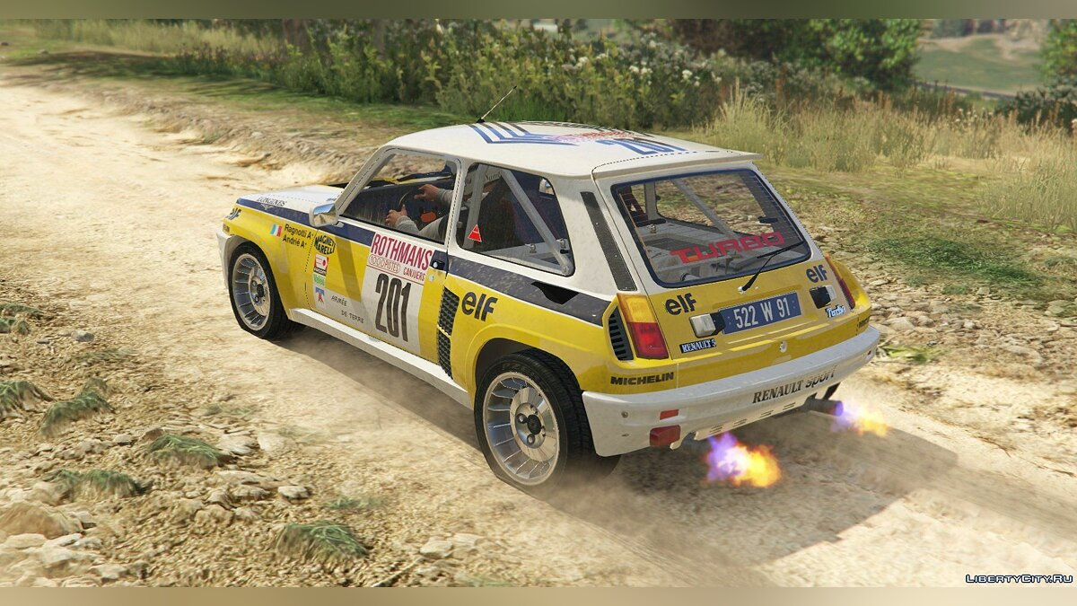 Renault 5 Turbo (2 Cars Pack) [Add-On / Replace | Tuning | Livery] 2.1 для GTA 5 - скриншот #11