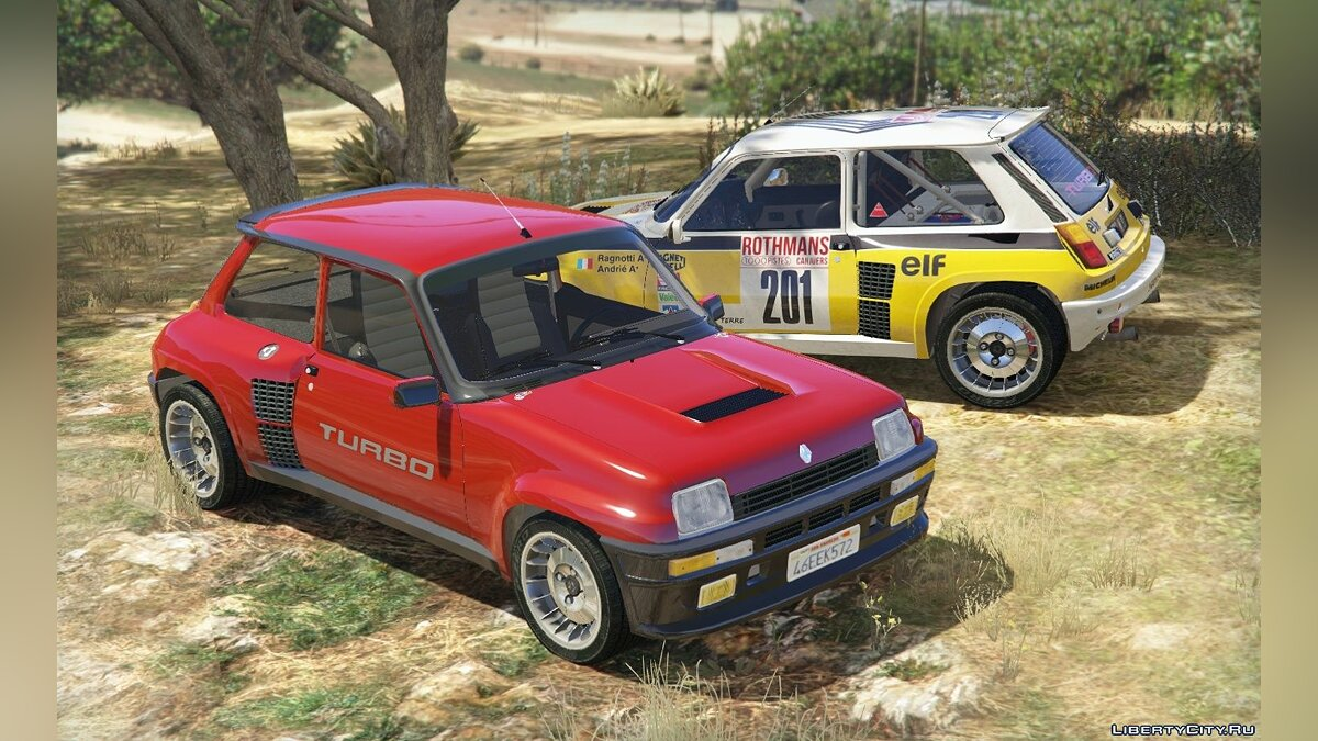 Renault 5 Turbo (2 Cars Pack) [Add-On / Replace | Tuning | Livery] 2.1 для GTA 5 - скриншот #14